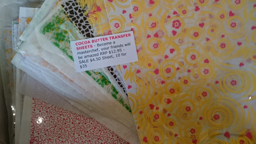 Chocolate Edible Cocoa Butter Transfer Papers Diy Chocolate