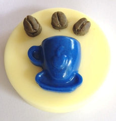 Coffee Cup and Beans Silicone Mould OVERSTOCK SPECIAL