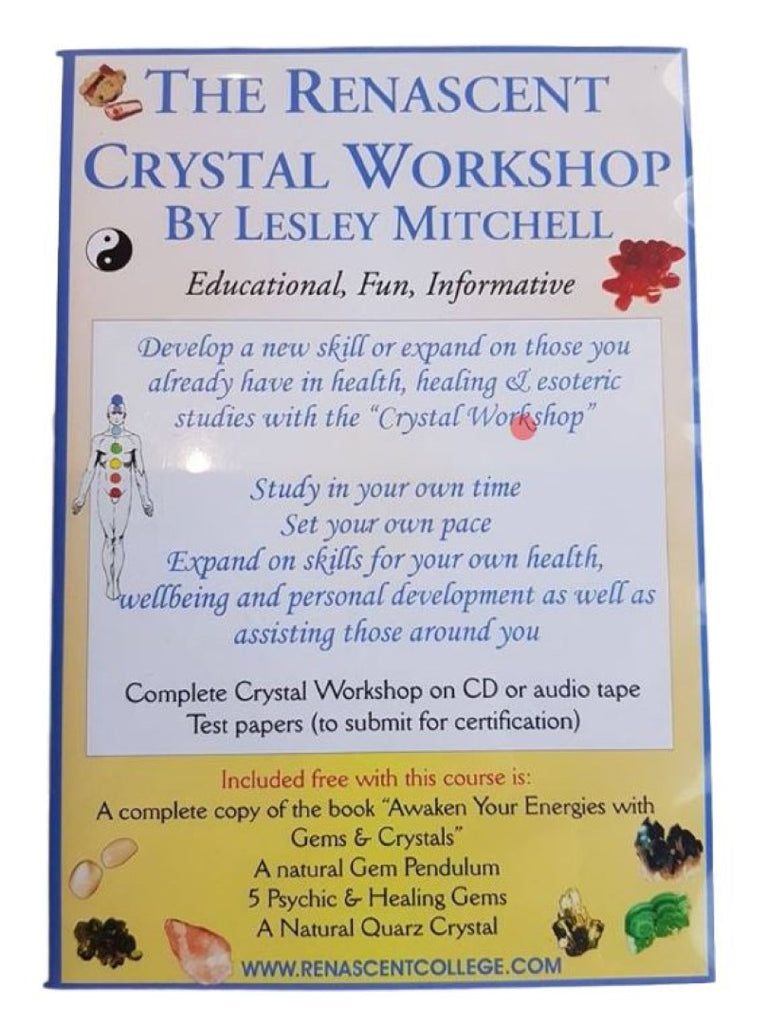 Crystal Healing Correspondence Course Workshop on CD