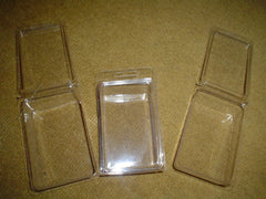 Rectangle Single Cavity Clear Self Closing Clam Shell Box
