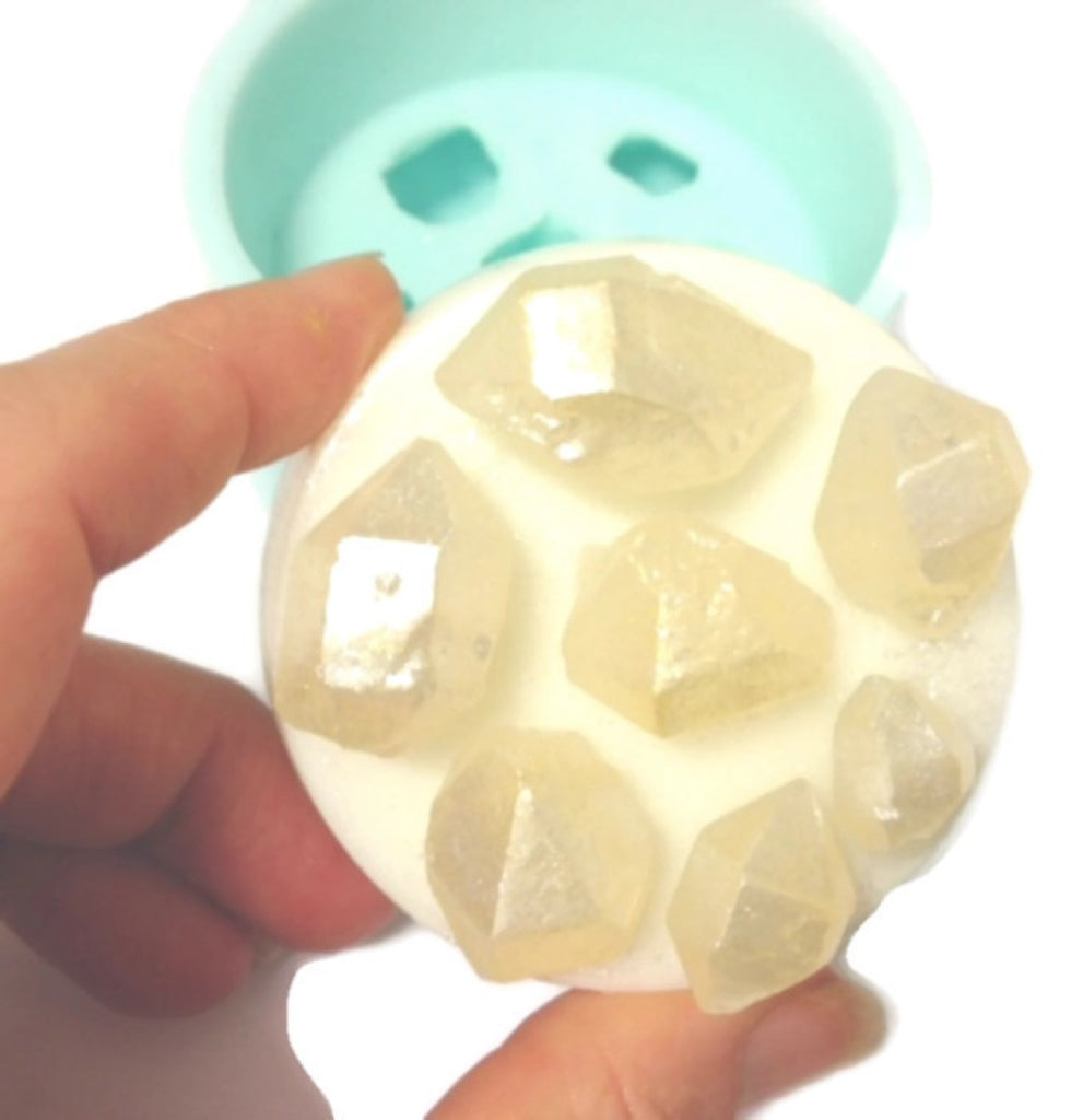 Herkimer Diamonds x 7 on Round Base Silicone Mould