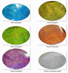 *Cosmetic Grade Glitter Kit of 6 Holographic Colours
