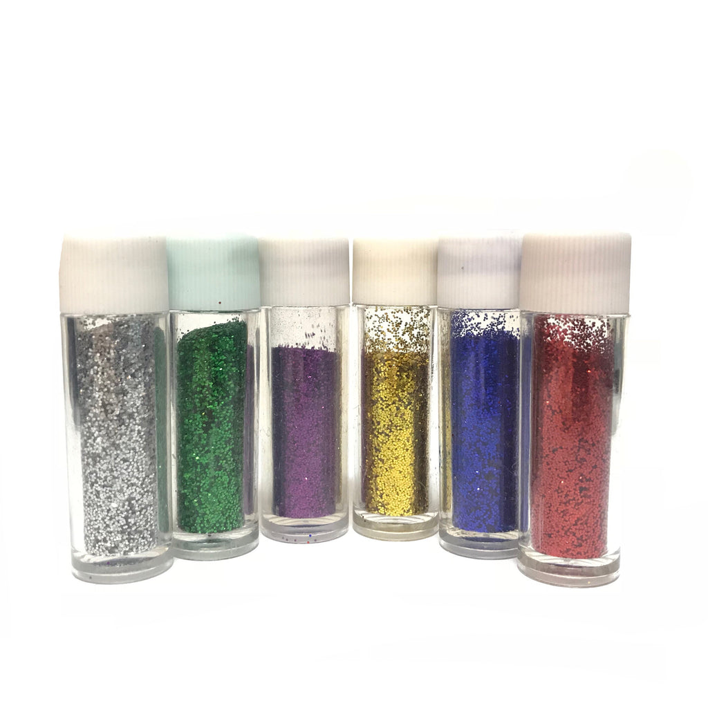 Craft Grade Glitter Kit of 6 Tubes