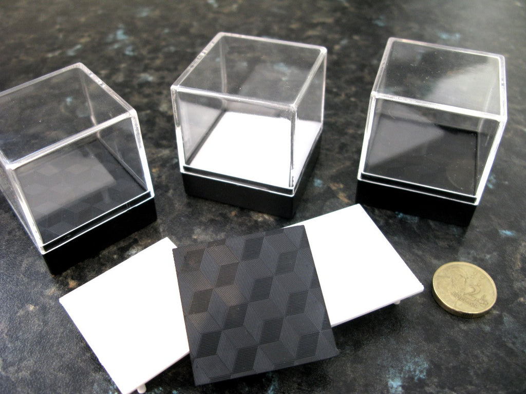 Mineral Boxes with Black Stage x 10