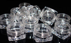 5ml Square Clear Pots + Lids