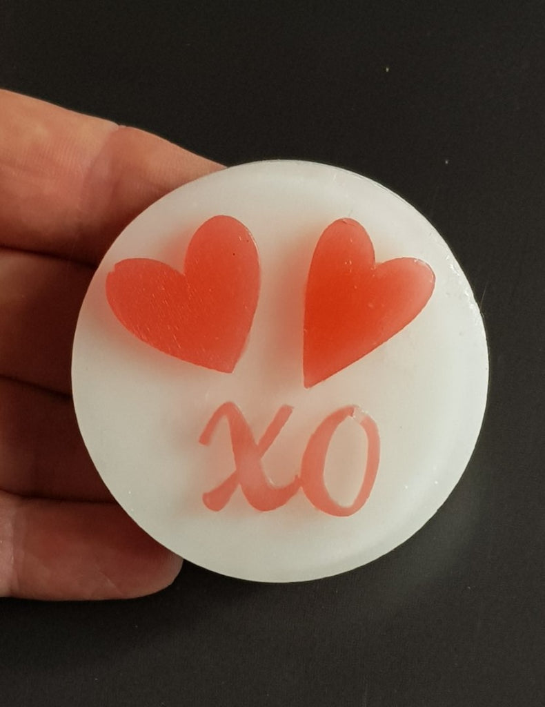 XO Kisses and Hugs Silicone Mould