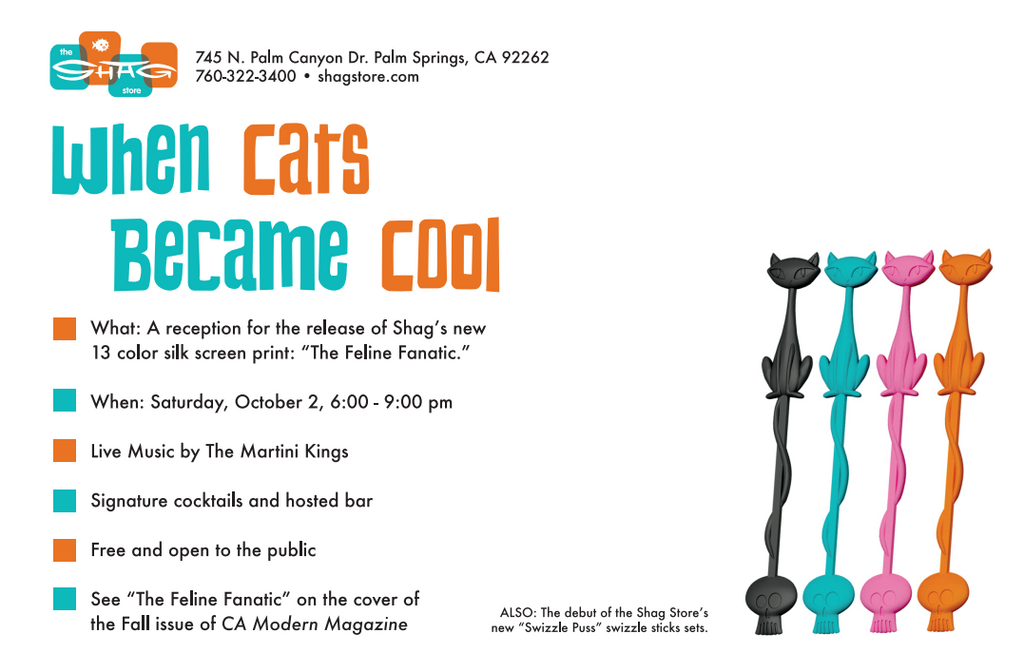 """""""When Cats Became Cool"""" Event at The Shag Store"""