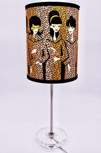 """Leopard Coats"" Table Lamp"