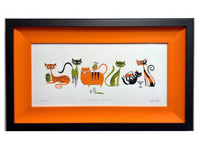 "Load image into Gallery viewer, ""Cocktail Cats II"" Framed Print"