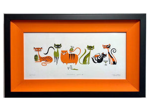 """Cocktail Cats II"" Framed Print"