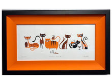 "Load image into Gallery viewer, ""Cocktail Cats III"" Framed Print"