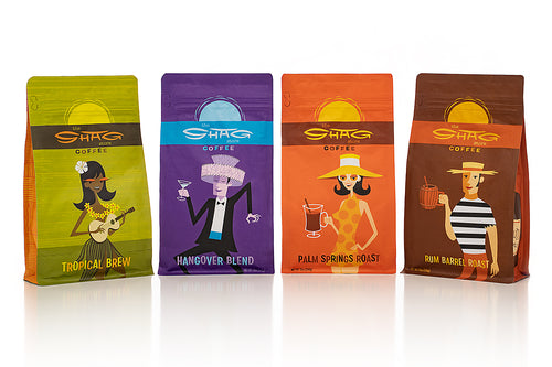 Shag Coffee Collection - Buy All 4 Packaged Blends & Save!