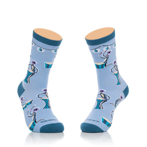 """Spooky Percussion"" Women's Crew Socks"