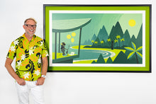 "Load image into Gallery viewer, ""Green Lagoon"" Framed Print"