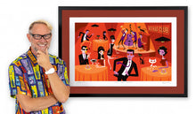 "Load image into Gallery viewer, ""Hot Cat Jazz"" Framed Print"