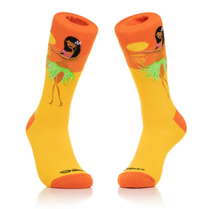 """Hula Girl"" Men's Crew Socks"