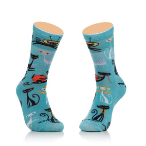 """Kitty Cats"" Womens Crew Socks"