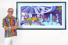 "Load image into Gallery viewer, ""Midnight Pool Party"" Framed Print"