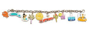 """Palm Springs"" Charm Bracelet - Includes 10 Great Charms to get you started!"