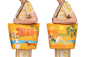 """Pool Party"" Tote Bag Beautifully Lined & Zippered"