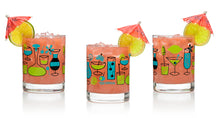 "Load image into Gallery viewer, ""Cocktails"" Old Fashioned Glass Set 