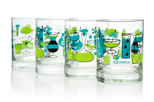 """Cocktails"" Old Fashioned Glass Set 