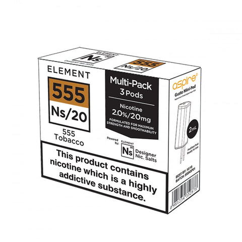 Element 555 Tobacco NS 20 Pods (3PK)