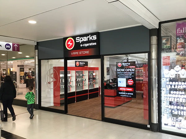 Buy your vaping supplies at our new Uxbridge store – Sparks e-cigarettes