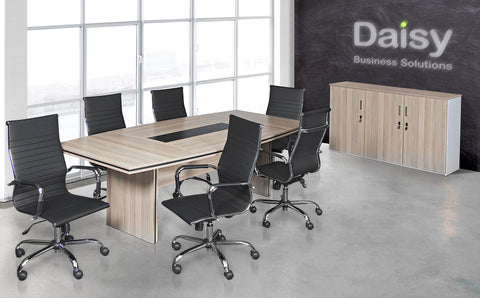 Pearl Boardroom Table (Coimbra) Cyprus Chairs