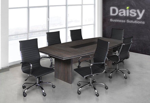 Pearl Boardroom Table (Cadbury Oak) Cyprus Chairs