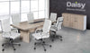 Image of Pearl Boardroom Table (Coimbra) Alaska White Chairs