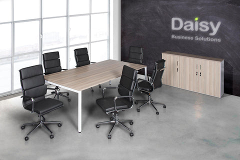 Boardroom Benching Solution Alaska Black Chairs