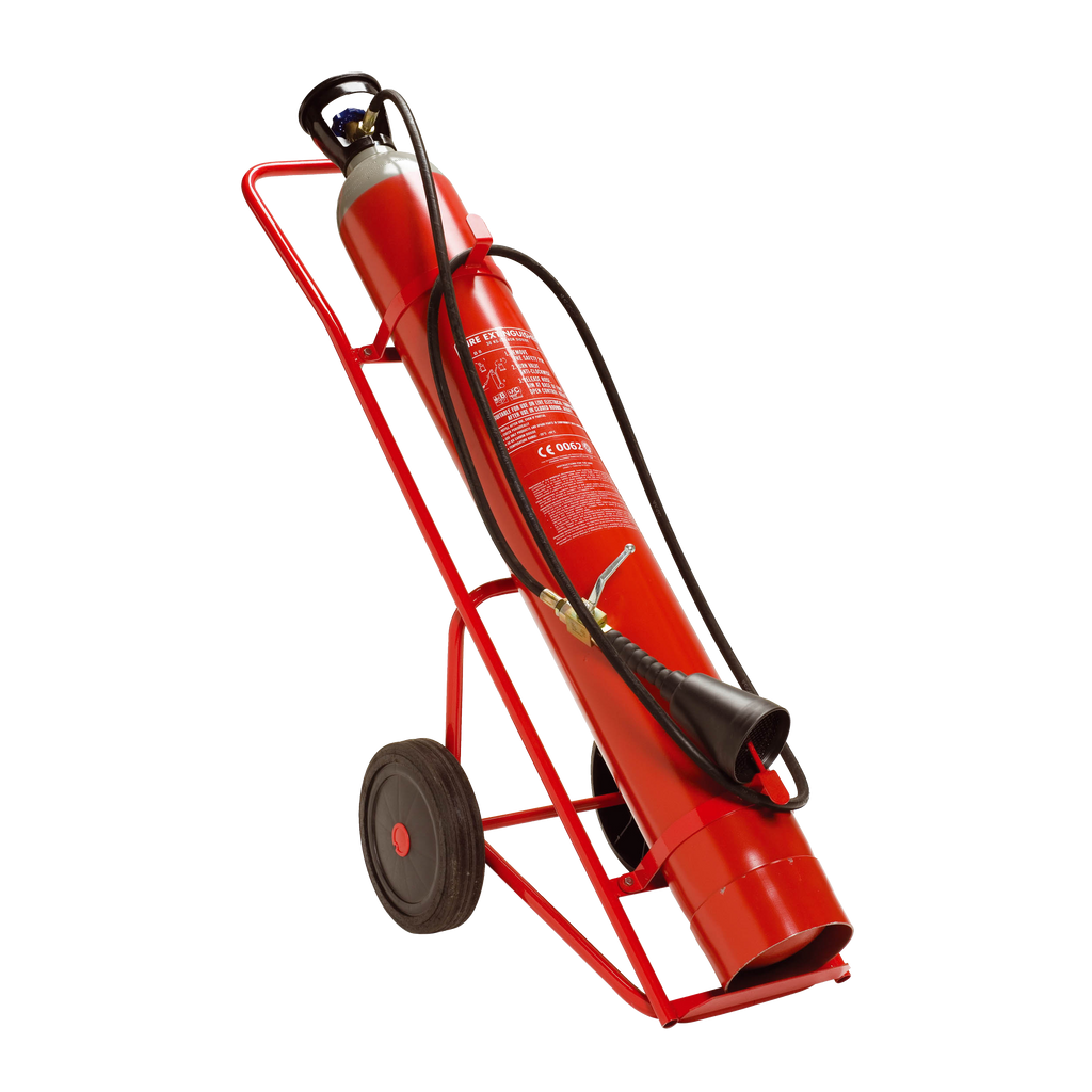 Carro Extintor de 10 Kg. CO2 - 1 Botella//10 Kg CO2 Fire Extinguisher Trolley with - 1 Bottle