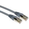 Cable de Parcheo EXCEL® Categoría 6 F/UTP Blade LS0H Blindado 1m - Gris//EXCEL® Category 6 Patch Lead F/UTP Shielded LS0H Blade Booted 1m - Grey