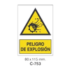 Cartel Adhesivo de Seguridad para Indicaciones de Obra y de Peligro//Adhesive Safety Signboard for Work and Danger Instructions