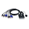 Conmutador KVM ATEN™ con Cable VGA USB de 2 Puertos//2-Port USB VGA Cable KVM ATEN™ Switch
