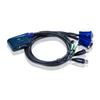 Conmutador KVM ATEN™ con Cable VGA/Audio USB de 2 Puertos (0,9m)//2-Port USB VGA/Audio Cable KVM ATEN™ Switch (0.9m)