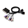 Conmutador KVM ATEN™ USB DVI/Audio de 2 Puertos con Cable//2-Port USB DVI/Audio Cable KVM ATEN™ Switch