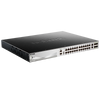 Switch D-Link® Gigabit PoE+ de 24 Puertos Ethernet (+2 TP, +4 SFP+ 10G) Apilable - L3 (370W)//D-Link® Gigabit Ethernet 24-PoE+ Ports (+2 TP, +4 SFP+ 10G) Stackable Switch - Layer 3 (370W)