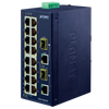 Switch Fast Ethernet Industrial PLANET™ de 16 Puertos 10/100TX + 2-Puertos Combo Gigabit TP/SFP//PLANET™ Industrial 16-Port 10/100TX + 2-Port Gigabit TP/SFP Combo Ethernet Switch