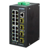 Switch Gestionable Industrial PLANET™ de 16 Puertos SFP (+2 RJ45) - L2+ (con Enrutado Estático L3)//PLANET™ 16-SFP Ports (+2 RJ45) Industrial Manageable Gigabit Switch - L2 with L3 Static Routing