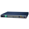 Switch Gestionable Industrial PLANET™ de 20 Puertos + 4 Puertos Gigabit TP/SFP + 4 10G SFP+ - L3//PLANET™ Industrial 20-Port + 4-Port Gigabit TP/SFP + 4-Port 10G SFP+ Managed Ethernet Switch - L3