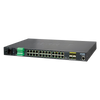 Switch Gestionable Industrial PLANET™ de 24 Puertos (+4 SFP, +2 SFP+ 10G) - L2+ (con Enrutado L3)//PLANET™ 24-Ports (+4 SFP, +2 SFP+ 10G) Industrial Manageable Gigabit Switch - L2+ with L3 Static Routing