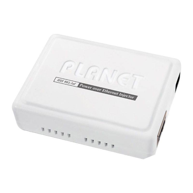 Inyector PoE PLANET™ 10/100 Mbps//PLANET™ IEEE 802.3af Power Over Ethernet Injector (Mid-Span)
