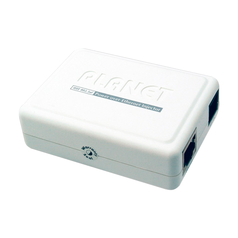 Inyector PoE PLANET™ 10/100/1000 Mbps//PLANET™ IEEE 802.3af Power Over Ethernet Injector (End-Span)