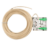 Roseta de 2 SC/APC con Acometida de 2 Fibras - 10 m//Rosette of 2 SC/APC with Connection of 2 Fibers - 10 m