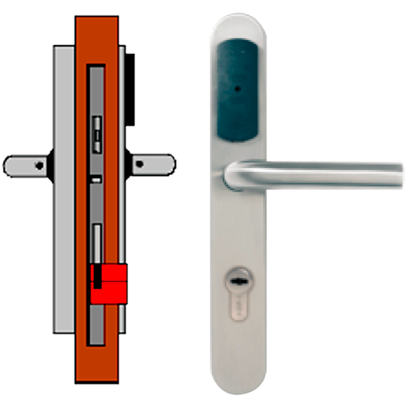 Manilla Autónoma TESA® SMARTair™ L3V sin Privacidad//Standalone TESA® SMARTair™ Escutcheon L3V without Privacy