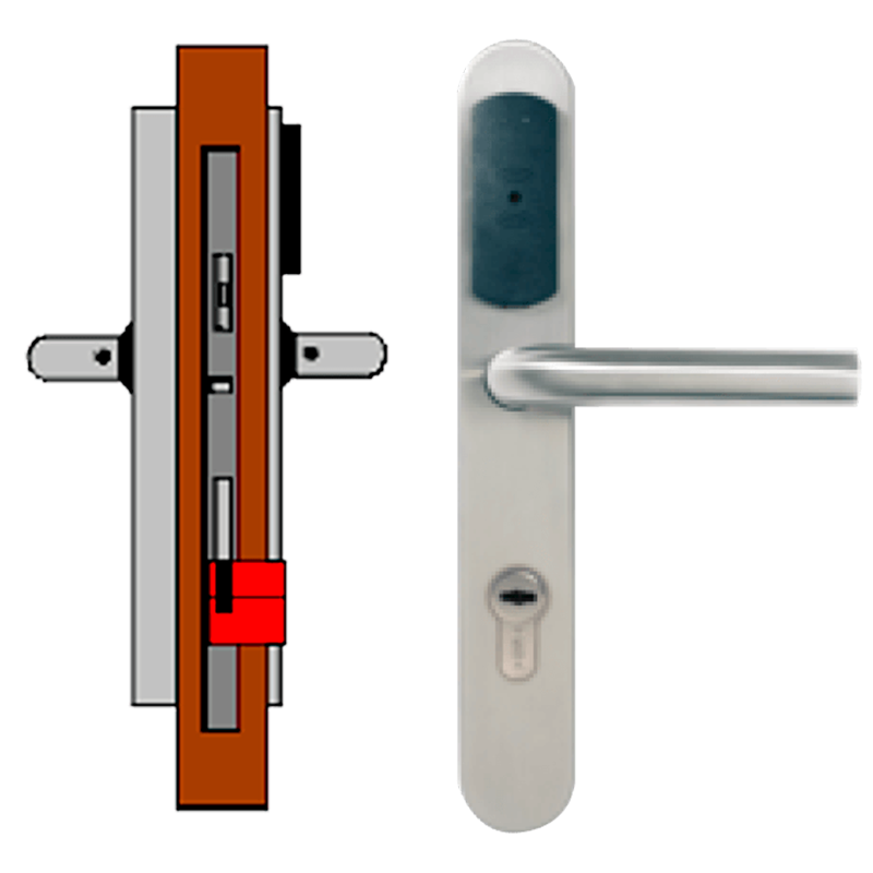 Manilla Autónoma TESA® SMARTair™ L2V sin Privacidad (IP55)//Standalone TESA® SMARTair™ Escutcheon L2V without Privacy (IP55)
