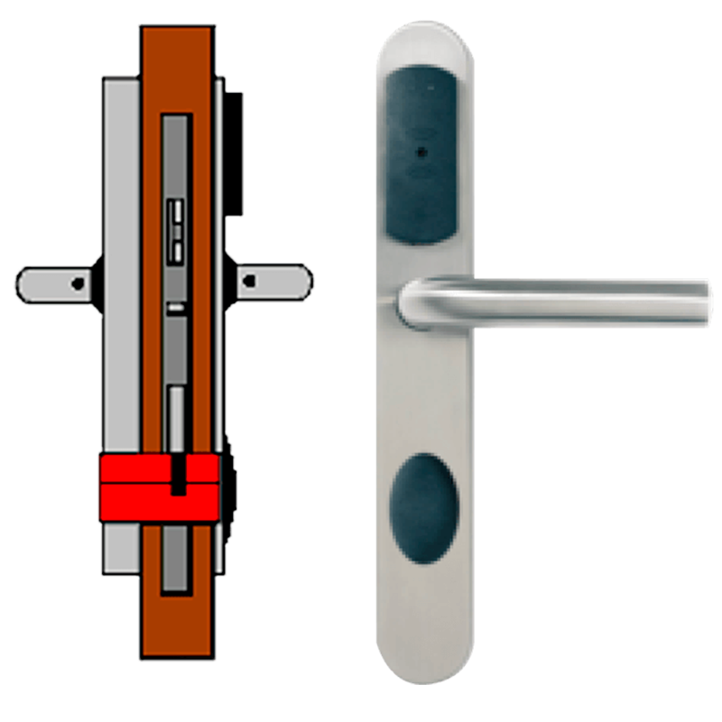 Manilla OFF-LINE TESA® SMARTair™ L3O (Update On Card) sin Privacidad (IP55)//OFF-LINE (Update On Card) TESA® SMARTair™ Escutcheon L3O without Privacy (IP55)