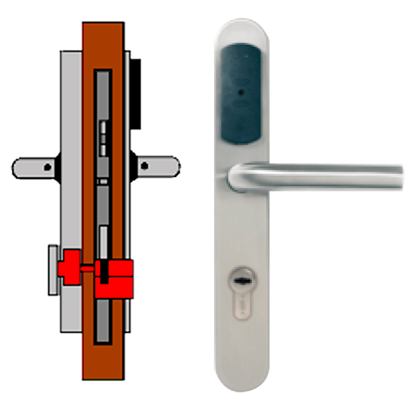 Manilla OFF-LINE TESA® SMARTair™ L8V (Update On Card) con Privacidad Elec.//OFF-LINE (Update On Card) TESA® SMARTair™ Escutcheon L8V with Elec. Privacy